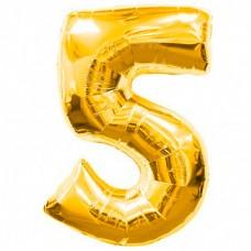 Шар фольгированный цифра 5 (пять) з...