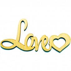 Деревянная надпись Love